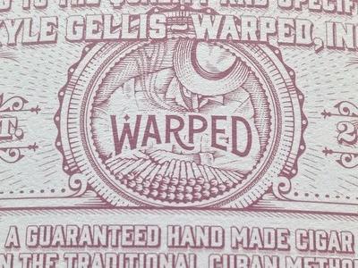 Warped Seal jcdesevre design vintage illustration packaging typography cigars luxury seal engraving label