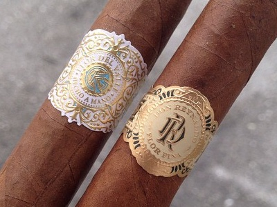 Cigars Band jcdesevre luxury design cigars gold embossed typography monogram packaging band