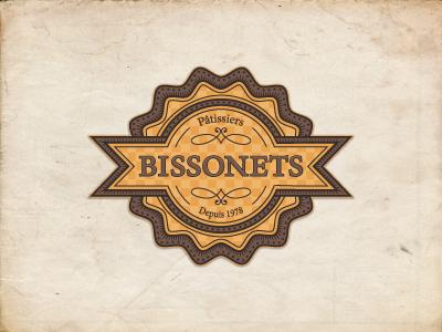 Bissonets pastry logo french logo design logo designer jcdesevre identity brand badge vector illustrator graphic design