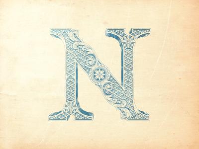 N jcdesevre vintage design typography illustration vector