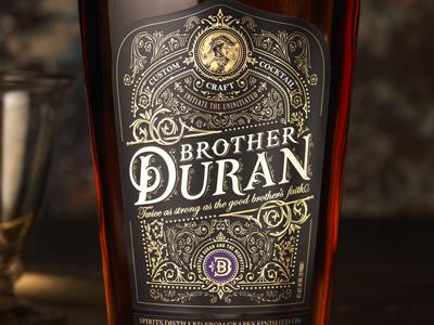 Duran luxury jcdesevre illustration packaging vintage gold typography design