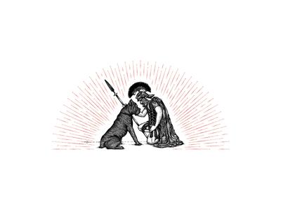 U.T.E canecorso line engraved wine illustrator jcdesevre vectoriel vintage artisanal illustration label