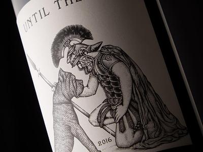U.T.E jcdesevre napa canecorso engraving illustration label wine