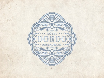 Dordo jcdesevre logo logo design logo designer emblem french vector retro art design vintage flourish graphic