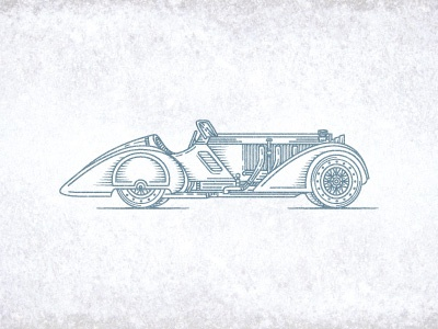 Benz1930 art jcdesevre logo retro car logo design logo designer illustration vector line design effect engraving graphic