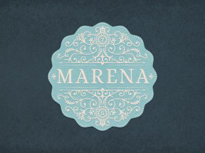 Marena art french vector emblem jcdesevre logo design logo logo designer design flourish graphic
