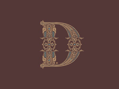 D jcdesevre illustration gold luxury vector design letter art letter d