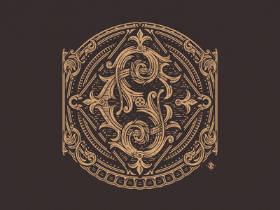 CS vintage illustration jcdesevre engraving wood monogram typography vector logo design logo design graphic