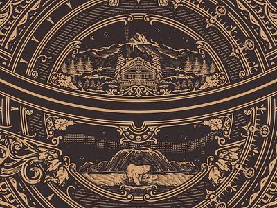 CS2 gold engraving wood vintage art jcdesevre flourish typography vector design graphic illustration