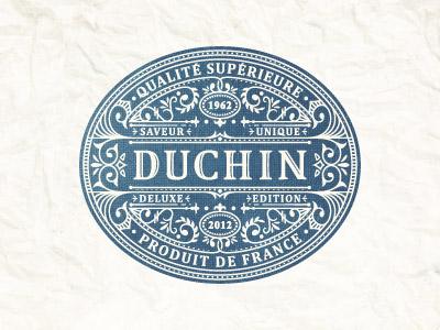 Duchin emblem french vector jcdesevre logo label retro design logo design logo designer flourish graphic illustrator
