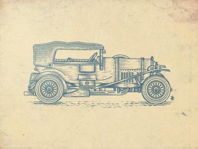 Bentley1927 bentley collection illustration car jcdesevre vector retro design engraving effect graphic
