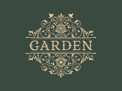 Garden art garden flower french jcdesevre logo design retro vector logo logo designer emblem flourish graphic design