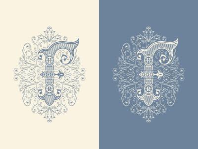 F Monogram logo logo designer jcdesevre flourish logo design vector monogram illustrator graphic design