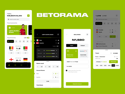 Betorama betting bet live football app ui design