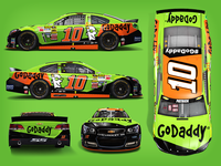 Danica Patrick #10 GoDaddy car