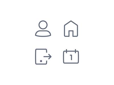 LendingHome Iconography math times joy text icon sms icon calendar icon home icon profile icon iconography icons