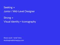 Seeking Designers @ Math Times Joy