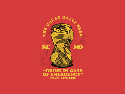 """""""The Great Rally of 2020"""" badge lockup typography illustration screenprint kc chiefs"""