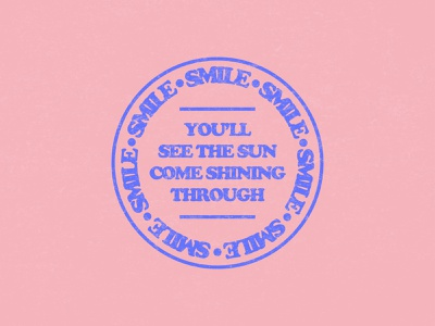 SMILE texture playoff badge lockup typography