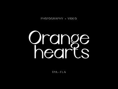 Orange Hearts - WIP illustration icon wordmark lockup branding logo photography