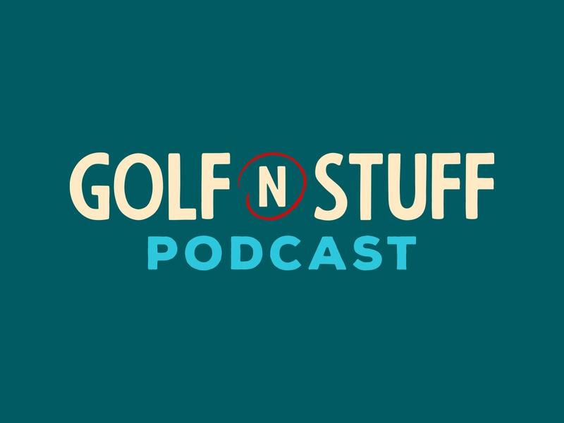 Golf N' Stuff Podcast Branding podcast art podcast cover art character mascot golf podcast logo identity branding lockup typography illustration