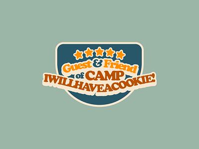 Guest Spot for Camp Cookie bake blog food branding lockup typography badge flat illustration