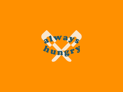 Always Hungry hungry food baking spot illustration branding lockup typography badge flat illustration