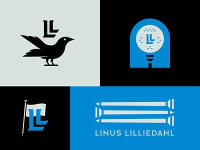 Linus Lilliedahl - PGA Professional Branding - 002 ball tees flag monogram bird pga tour pga golf design icon logo identity branding lockup typography badge flat illustration