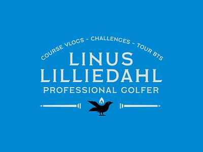 Linus Lilliedahl - PGA Professional Branding - 003 youtube channel youtube banner tees flame golf pga bird youtube vlog design icon logo identity branding lockup typography badge flat illustration