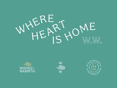Wishes & Warmth - W.I.P. 003 design icon logo identity branding lockup typography badge flat illustration