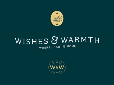 Wishes & Warmth - W.I.P. 001 design icon logo identity branding lockup typography badge flat illustration
