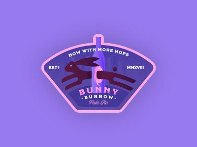 Bunny Brew Pale Ale disney lockup bottle portal blackbike regina rabbit bunny badge beer