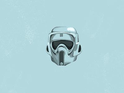 Scout Trooper texture trooper scout stormtrooper starwars illustration