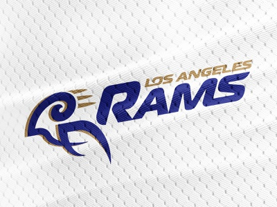LA Rams Redesign gridiron design ram branding redesign logotype football rams los angeles