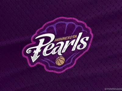 Minnesota Pearls symbol prince timberwolves minneapolis minnesota nba design branding basketball logo brand