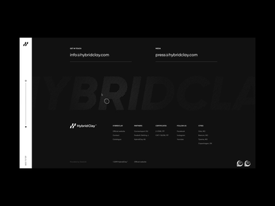 Hybrid Clay Experience Lab Footer Animation landing page vietnam transition minimal design clean footer design web design website animation footer