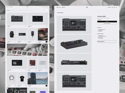 Elektron Shop minimal shop product ecommerce vietnam landing page design clean