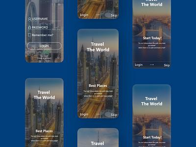 Travel App screens design on mobileuidesign mobiledesign uideveloper mobile appdeveloper webdeveloper webdesign ios android appdesign app uxtips uxdesigners uxdesignmastery