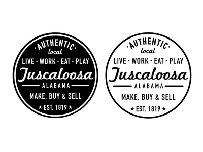 Authentic Local Tuscaloosa ttown alabama live work eat play make buy sell local seal circle
