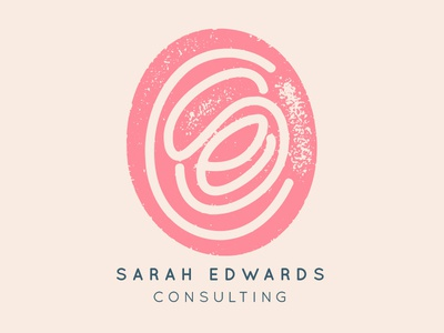 Consulting Logo branding pink logo initials letters sanserif sans pink effect hand drawn lettered hand stamp stamped