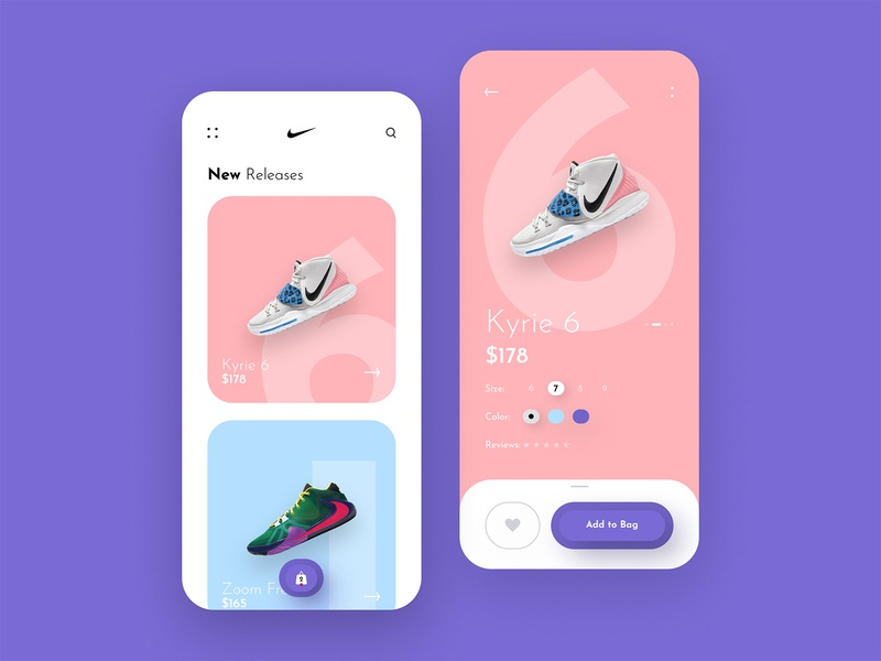 Nike Store App Design sneakers fashion payment shopping app ecommerce online store online shop shoes nike ios creative simple mobile app clean product design app design minimal ux ui design