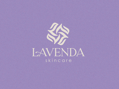 Lavenda flower design graphic design aesthetic beauty desgin monogram skincare cosmetic purple lavender l logo