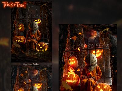 Trick 'r Treat pumpkin horror illustration horror art horror movie michael dougherty 3d art cinema4d c4d realism octane horror octanerender render illustration 3d halloween