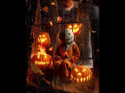 Trick 'r Treat pumpkin horror illustration horror art horror movie michael dougherty 3d art cinema4d c4d realism octane horror octanerender render illustration 3d halloween
