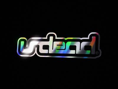 UNDEAD® Store Promo undeaddeaths iridescent animation octanerender octane holographic sticker holographic foil holographic holograph hologram holo cinema4d c4d 3d art 3d
