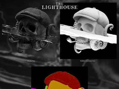 Beacon of Sirens Rock drama render ocean lighthouse sea octanerender octanerenderer octane horror movie horror art skull the lighthouse horror illustration cinema4d c4d 3d art 3d