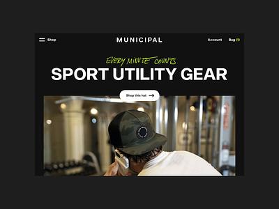 MUNICIPAL Website famous people website big text ux ui design ecommerce municipal rareview