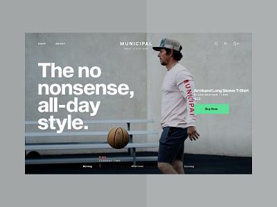 MUNICIPAL Website —Concept typography website ux ui rareview municipal ecommerce design big text
