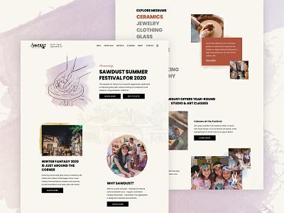 Sawdust Art Festival Website sawdust web illustration typography website ux ui rareview ecommerce design