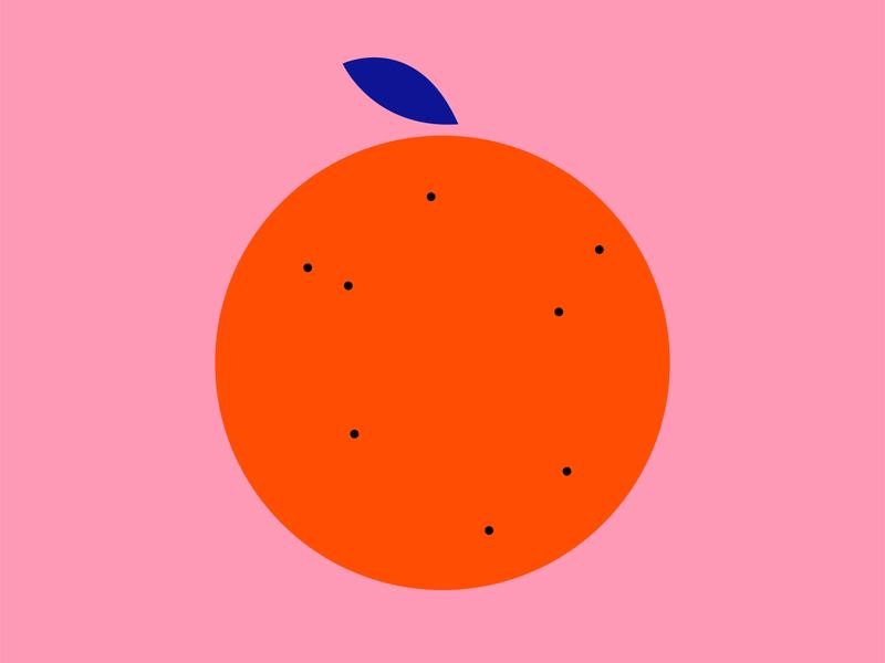 #ORANGE project ux ui graphic design graphic visual art art illustrator nature clear linear simple minimal fruit pink vector illustration orange